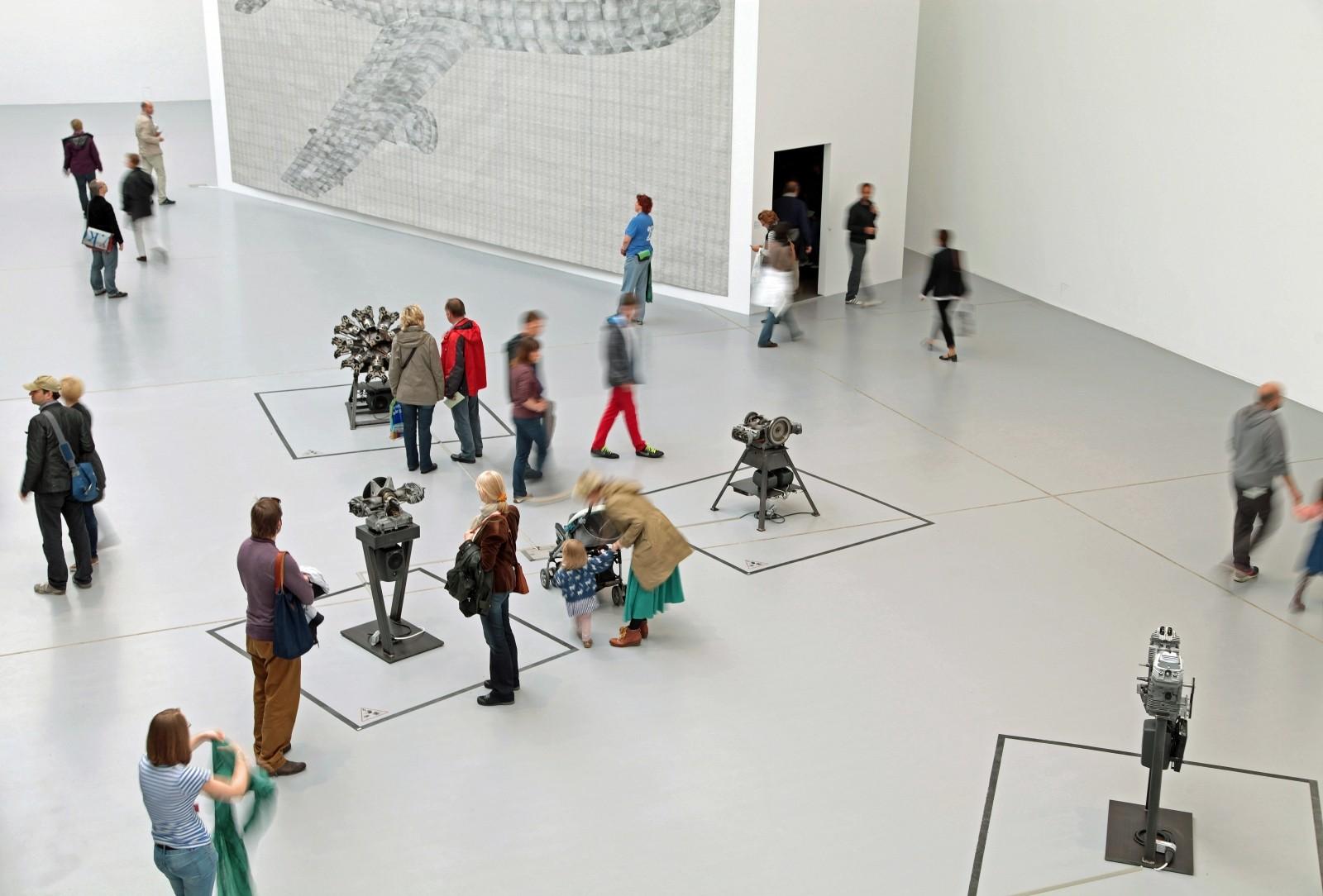 visitatori nei musei
